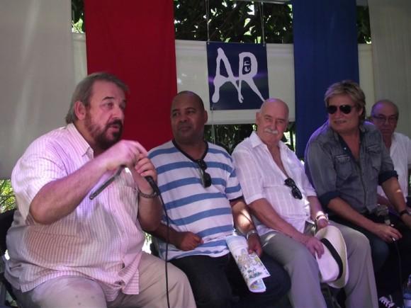 Manuel Calviño resultó ser uno de los invitados que consumió mayor cantidad de tiempo en la grabación. Foto. Marianela Dufflar