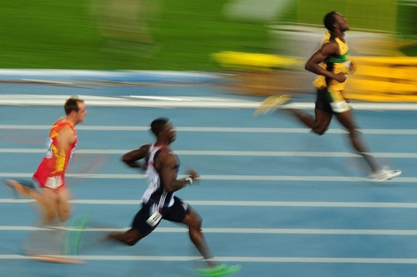 Bolt gana su serie en Daegu. Foto: Afp