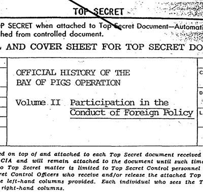 Dossier sobre la invasión a Girón, obtenido por el Archivo de Seguridad Nacional