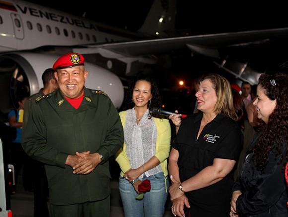 Llegada de Chávez a Caracas. Foto: Prensa Presidencial