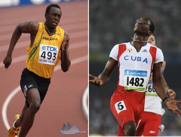 Usain Bolt y Dayron Robles