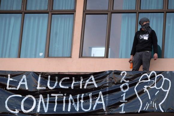 Los estudiantes chilenos protestan contra el actual sistema educativo y piden reformas. Foto: EFE