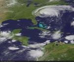 Una imagen satelital de la NASA muestra la ubicación actual del huracán Irene.