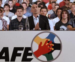 Importantes futbolistas de la Liga tomaron parte en la huelga