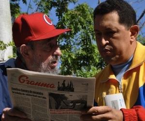 Hugo Chavez y Fidel Castro en La Habana
