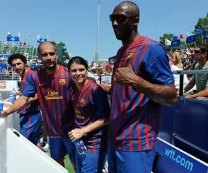 De derecha a izquierda, tres grandes: Bryant, Mia Hamm y Guardiola