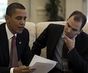 Obama y Ben Rhodes.