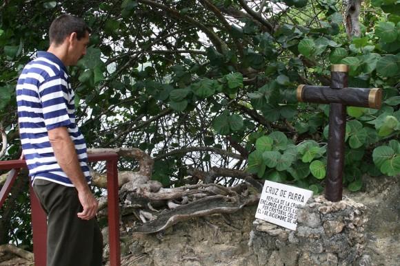 Visitantes vienen a ver La Cruz. Foto: Sheyla Valladares