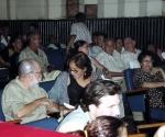 Abelardo Estorino y Adria Santana en las lunetas del cine teatro Trianón. Foto: CNIAE
