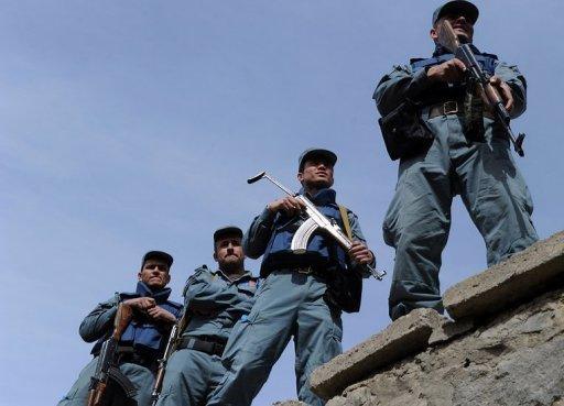 Guardias de seguridad afganos. Foto: AFP