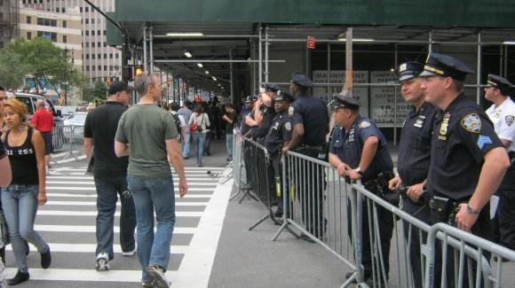 Barrera policial en zona restringida Ground Zero. Foto: Rafael Hernández