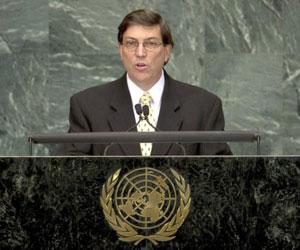 El Canciller cubano Bruno Rodríguez Parrilla en ONU