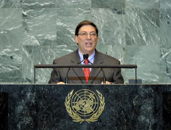 El Canciller Bruno Rodríguez Parrilla. Foto: Asamblea de ONU.