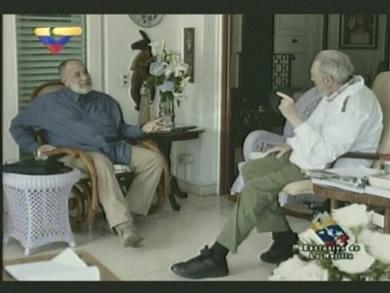 Mario Silva y Fidel en La Habana