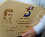 La placa de los Cinco para Giustino di Celmo
