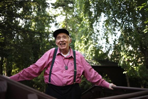 Harold Bloom en su casa de New Haven, en Connecticut. Foto: Pascal Perich, El País