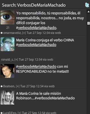 El hashtag #VerbosDeMariaMachado