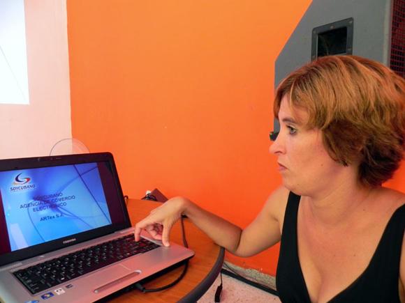 Mairet Gutiérrez, fundadora de Soy Cubano como web master, en la actualidad, es la Jefa del grupo de Diseño y Programación del Portal. Foto Marianela Dufflar