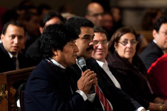 Evo, Maduro y Bruno en Nueva York.