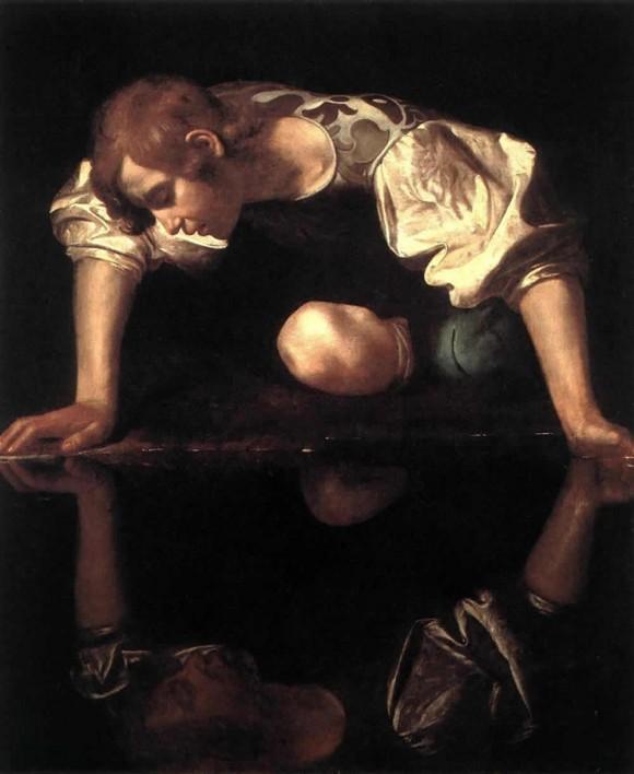 El Narciso de Caravaggio que se exhibe en La Habana. Para ver el dibujo a gran tamaño, haga clic sobre la imagen.