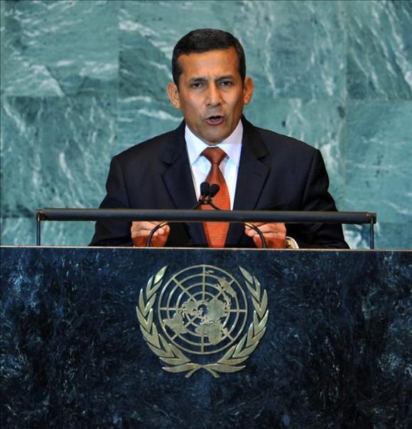 El presidente Ollanta Humala