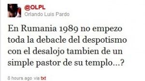 Uno de los tuiteros a sueldo de EE.UU. en Cuba revela sus deseos sobre el desenlace de los sucesos en la iglesia pentecostal de Infanta y Manglar