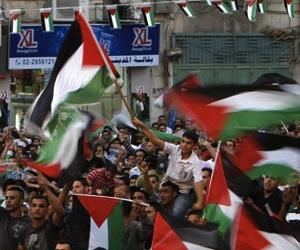 Manifestaciones en Palestina. Foto: Archivo