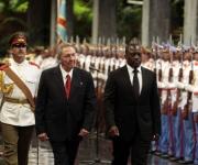 El presidente cubano,Raúl Castro, recibió hoy en esta capital a su homólogo de la República Democrática del Congo, Joseph Kabila, quien realiza una visita oficial. Foto: Ismael Francisco