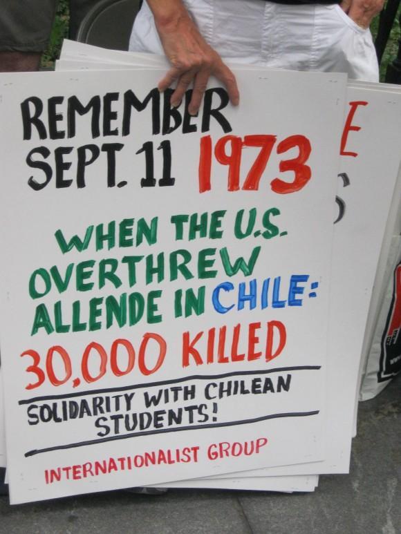 Recordando otro 11 Septiembre, de Chile. Foto: Rafael Hernández