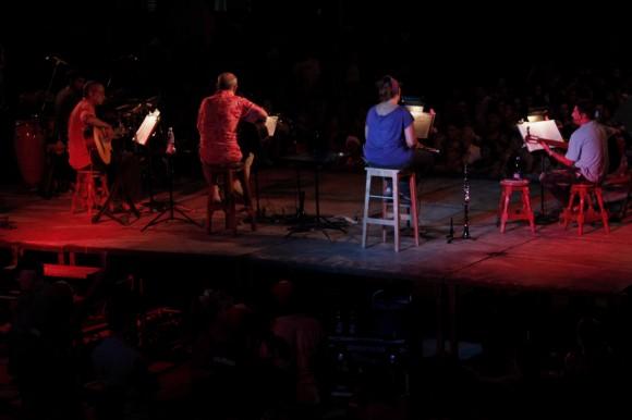 Desde el escenario. Foto: Jorge Ramirez