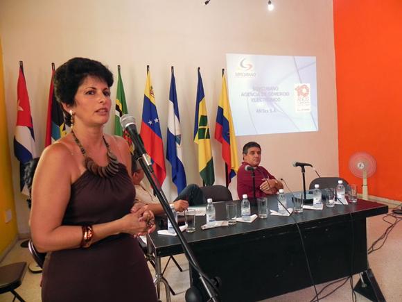 Teresita Espino, Gerente General de la Agencia Soy Cubano, valoró el trabajo realizado durante  estos 10 años. Foto Marianela Dufflar