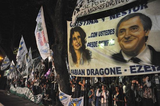 Miles de argentinos se reunieron para apoyar la reelección de la presidenta Cristina Fernández