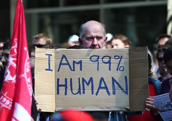 Occupy en Australia. Foto: AFP