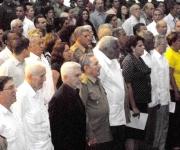 El general de Ejército, Raúl Castro Ruz, presidente de los Consejos de Estado y de Ministros de Cuba,  presidió el acto patriótico cultural contra el terrorismo de Estado  y de recordación de sus victimas, en la Sala Universal de las Fuerzas Armadas Revolucionarias, en La Habana, Cuba, el 6 de octubre de 2011. AIN FOTO/Oriol de la  CRUZ ATENCIO