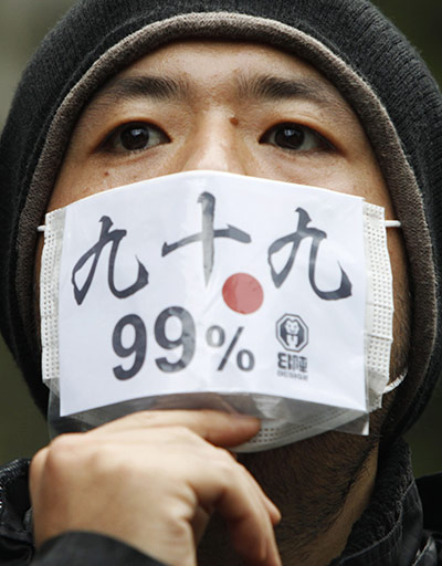 Occupy Tokio. Foto: Reuters