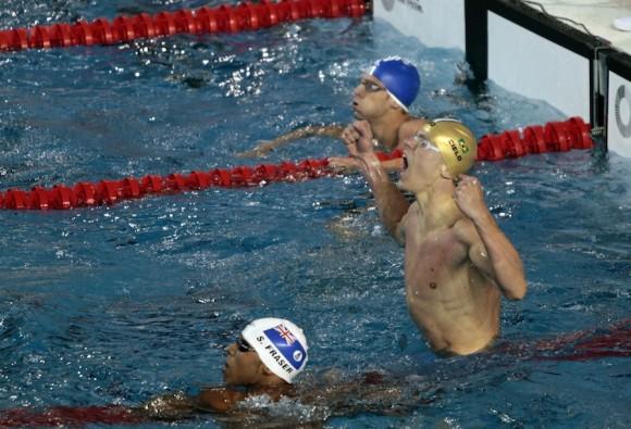 El cubano solo se vio superado por el campeón olímpico y mundial, el brasileño César Cielo, quien estableció primado para la competencia, con 47.84. Foto: Ismael Francisco