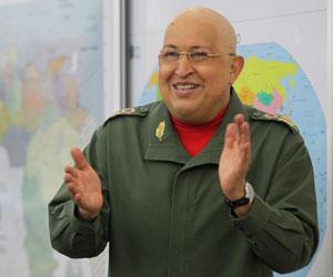 Presidente Chávez encabeza las encuentas en Venezuela. Foto: Prensa presidencial