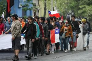 Universitarios chilenos afirman que seguirán movilizados. Foto: EFE