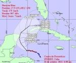 Cono de probabilidades del huracán Rina