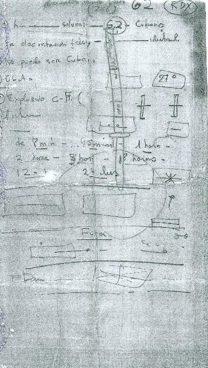 Diagrama del detonador que utilizó para estallar los explosivos C-4