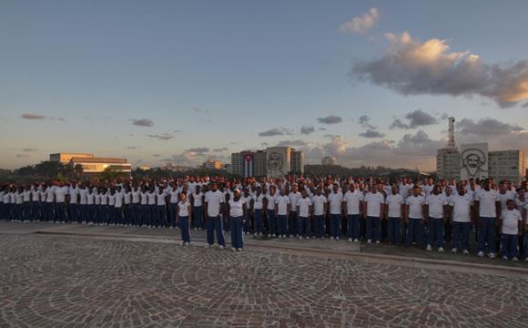 Abanderamiento delegación cubana juegos panamericanos. Foto: Ismael Francisco