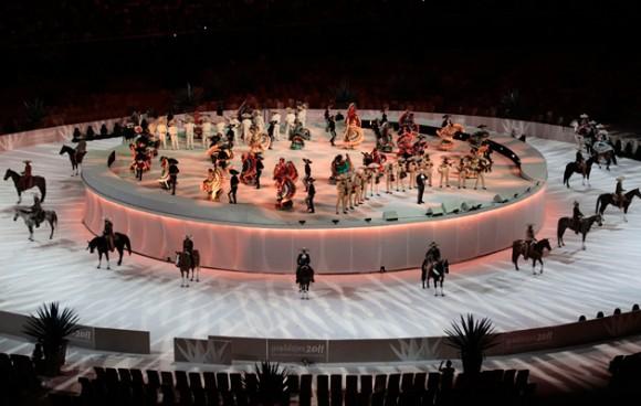 Colorida ceremonia en la inauguración de los Panamericanos. Foto: EFE