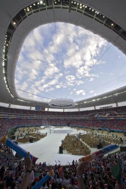 En el estadio Omnilife desfilaron nuestros atletas, dispuestos a mantener el segundo escaño. Foto: RAUL ARBOLEDA/AFP/Getty Images