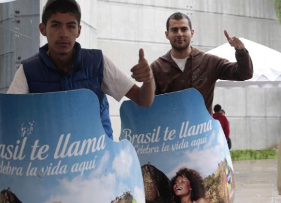 Miembros de la delegación cubana en la villa panamericana. Foto: Ismael Francisco