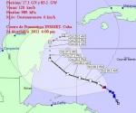 Posición del Huracán Rina a las 6:00 am, martes 25 de octubre