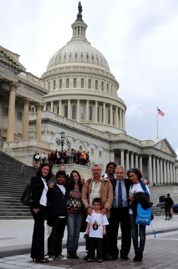 La Colmenita en el Congreso de los Estados Unidos. Foto: Bill Hackwell