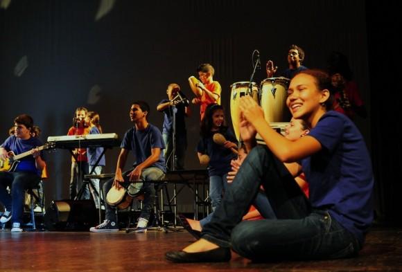 La Colmenita en The Duke Ellington School of the Arts, de Washington DC. Foto: Bill Hackwell