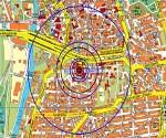 Mapa de situación difundido por el ayuntamiento de Halle Infografia: Dpa