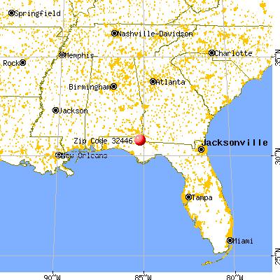 Marianna, señalado en rojo. La pequeña ciudad está en la frontera con Atlanta.