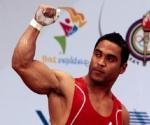 Medalla de oro para el cubano Ivan Cambar en levantamiento de pesas en la división de 77 Kg Foto Ismael Francisco